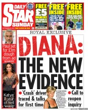 Daily Star Sunday (UK) Newspaper Front Page for 22 September 2019