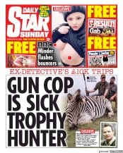 Daily Star Sunday front page for 23 February 2020