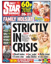 Daily Star Sunday (UK) Newspaper Front Page for 24 September 2017