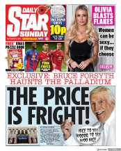 Daily Star Sunday front page for 25 October 2020