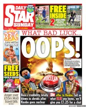 Daily Star Sunday front page for 25 April 2021