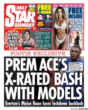 Daily Star Sunday front page for 26 April 2020