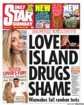 Daily Star Sunday (UK) Newspaper Front Page for 26 May 2019