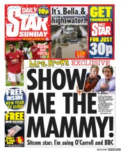 Daily Star Sunday front page for 27 December 2020