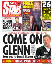 Daily Star Sunday (UK) Newspaper Front Page for 28 October 2018