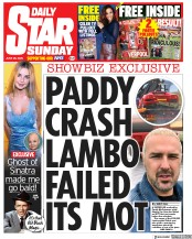 Daily Star Sunday front page for 28 June 2020