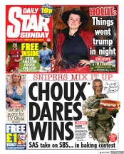 Daily Star Sunday front page for 29 November 2020