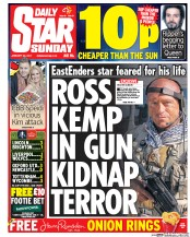 Daily Star Sunday (UK) Newspaper Front Page for 29 January 2017