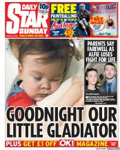 Daily Star Sunday (UK) Newspaper Front Page for 29 April 2018
