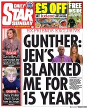 Daily Star Sunday (UK) Newspaper Front Page for 29 September 2019
