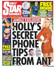 Daily Star Sunday (UK) Newspaper Front Page for 2 December 2018