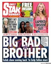 Daily Star Sunday front page for 2 February 2020