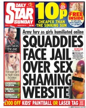 Daily Star Sunday (UK) Newspaper Front Page for 2 April 2017