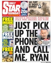 Daily Star Sunday () Newspaper Front Page for 3 February 2019