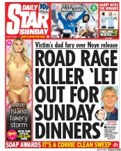 Daily Star Sunday (UK) Newspaper Front Page for 3 June 2018