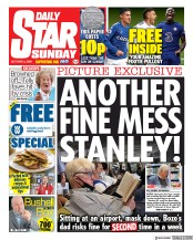 Daily Star Sunday front page for 4 October 2020