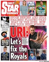 Daily Star Sunday front page for 4 April 2021