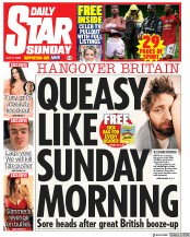 Daily Star Sunday front page for 5 July 2020
