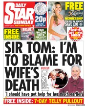 Daily Star Sunday (UK) Newspaper Front Page for 6 January 2019