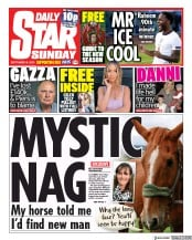Daily Star Sunday (UK) Newspaper Front Page for 6 September 2020