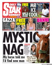 Daily Star Sunday front page for 6 September 2020