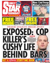 Daily Star Sunday (UK) Newspaper Front Page for 7 October 2018
