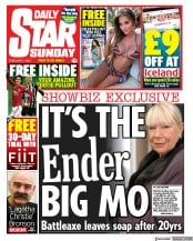 Daily Star Sunday front page for 7 February 2021