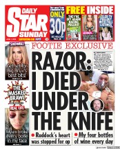 Daily Star Sunday front page for 7 June 2020