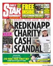 Daily Star Sunday front page for 8 March 2020