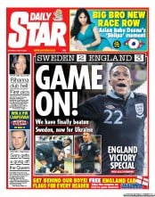 Daily Star Weekend Newspaper Front Page (UK) for 16 June 2012