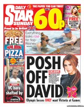 Daily Star Weekend (UK) Newspaper Front Page for 1 July 2012