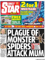 Daily Star Weekend (UK) Newspaper Front Page for 20 September 2014