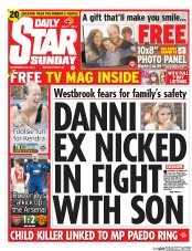 Daily Star Weekend (UK) Newspaper Front Page for 23 November 2014