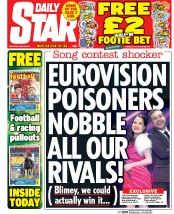 Daily Star Weekend (UK) Newspaper Front Page for 23 May 2015