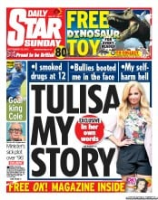 Daily Star Weekend Newspaper Front Page (UK) for 23 September 2012
