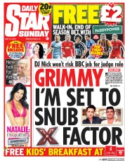 Daily Star Weekend (UK) Newspaper Front Page for 24 May 2015