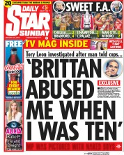Daily Star Weekend (UK) Newspaper Front Page for 25 January 2015