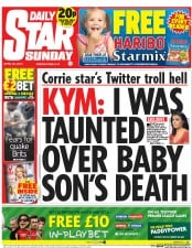 Daily Star Weekend (UK) Newspaper Front Page for 26 April 2015