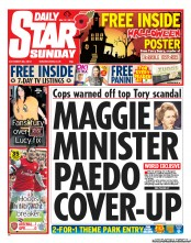 Daily Star Weekend Newspaper Front Page (UK) for 28 October 2012