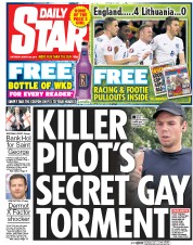 Daily Star Weekend (UK) Newspaper Front Page for 28 March 2015