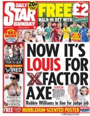 Daily Star Weekend (UK) Newspaper Front Page for 29 March 2015