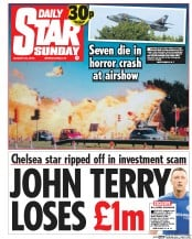 Daily Star Weekend (UK) Newspaper Front Page for 29 August 2015