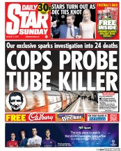Daily Star Weekend (UK) Newspaper Front Page for 2 August 2015