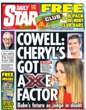 Daily Star Weekend (UK) Newspaper Front Page for 30 August 2014
