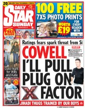Daily Star Weekend (UK) Newspaper Front Page for 31 August 2014