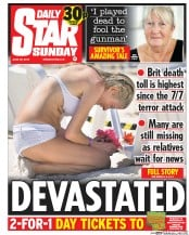 Daily Star Weekend (UK) Newspaper Front Page for 4 July 2015