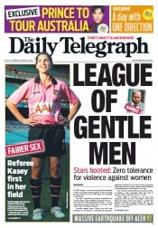 Daily Telegraph (Australia) Newspaper Front Page for 12 April 2012
