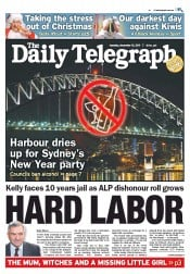Daily Telegraph (Australia) Newspaper Front Page for 13 December 2011