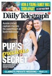 Daily Telegraph Newspaper Front Page (Australia) for 17 May 2012