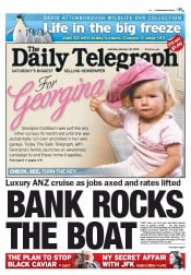 Daily Telegraph Newspaper Front Page (Australia) for 18 February 2012
